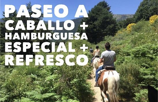 paseos a caballo y hamburguesa madrid