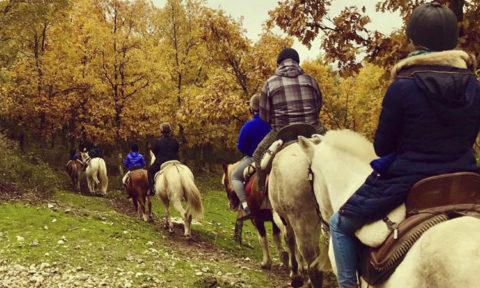 regala un paseo a caballo